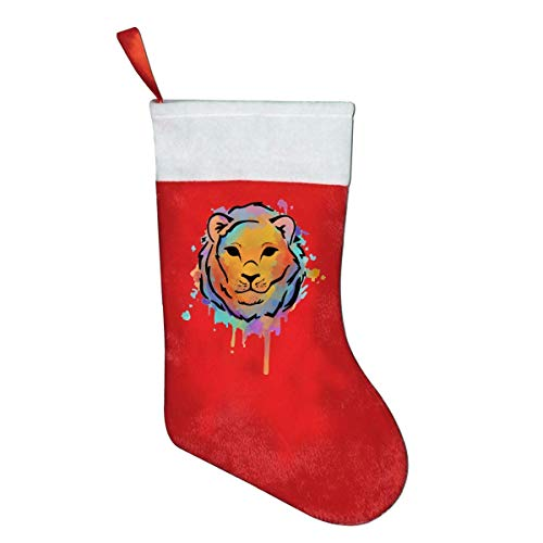 But why miss Watercolor Lion Mini Christmas Stocking Treat Bag Gift