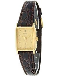 Reloj de señora CITIZEN - Chapado en oro - Esfera champagne - Correa piel Mod.EY-0092