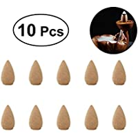 VORCOOL 10 Stücke Weihrauch Rückfluss, Kegel Räucherstäbchen Indoor Aromatherapie für Entspannung (Hellgelb) preisvergleich bei billige-tabletten.eu