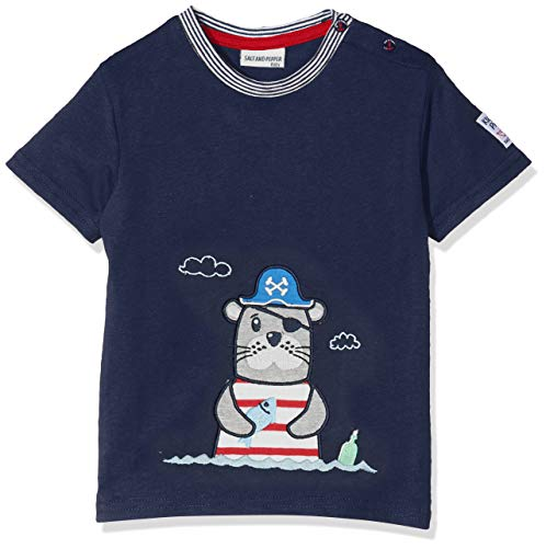 SALT AND PEPPER Baby-Jungen T-Shirt B Pirat Uni Robbe, Blau (Classic Blue 486), 80 (Piraten-baby)