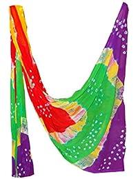Fashion Store Women's Chiffon Jaipuri Bandhej Dupatta Stole,chunni (Multicolor, Free Size,)