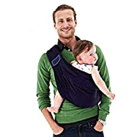 Baby Sling Carrier Nursing Baby Wrap Natural Cotton Baby Carriers Breastfeeding Sling Baby Holder Soft Safe for Newborns Baby Infant Gift (Dark Blue)