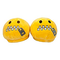 The Crazy Me Emoji ZIipped Indoor Slippers( Free Size upto 28 cm)