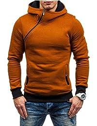 Socluer Felpa con Cappuccio Collo Alto da Uomo Hooded Sweatshirt Manica  Lunga Hoodie Cappotto Giacca Pullover 2abbac5c4bb