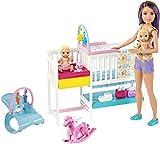 Mattel Barbie Skipper Hora de la Siesta-Muñeca Canguro con bebés y...