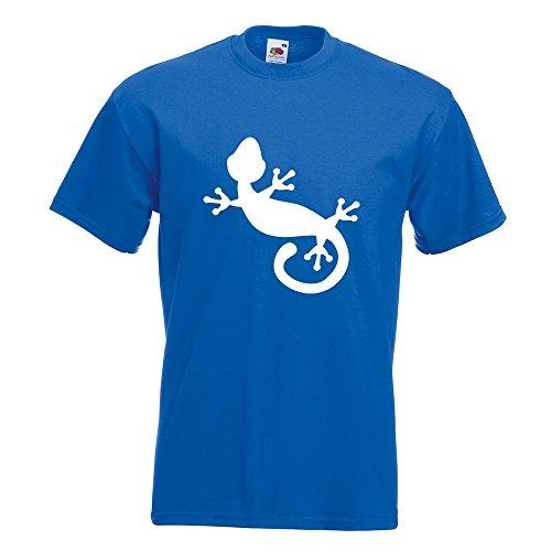 KIWISTAR - Gecko Motiv 1 T-Shirt in 15 verschiedenen Farben - Herren Funshirt bedruckt Design Sprüche Spruch Motive Oberteil Baumwolle Print Größe S M L XL XXL Royal