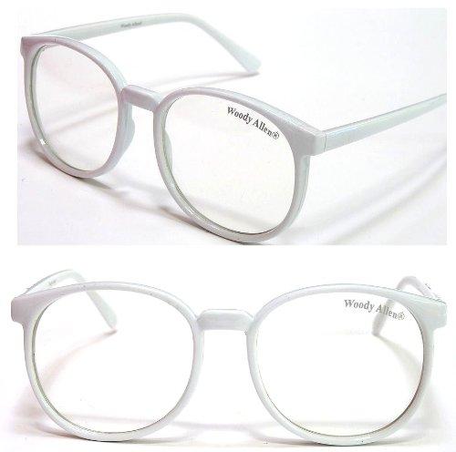 Woody Nerdbrille Farbe Weis