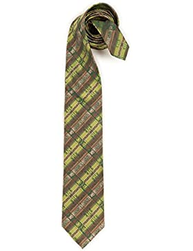 Trachten Krawatte - LANDHOFKARO - blau, rot, braun
