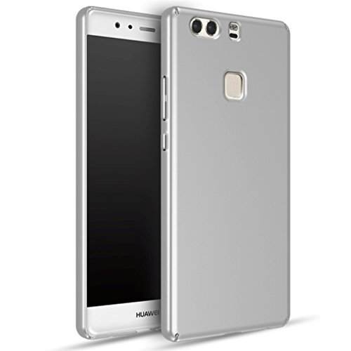 Apanphy Huawei P9 Plus Hülle , Hohe Qualität Ultra Slim Harte Seidig Und Shell Volle Schutz Hinten Haut Fühlen Schutzhülle für Huawei P9 Plus, Silber