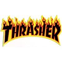 Thrasher Flame Large Black Sticker