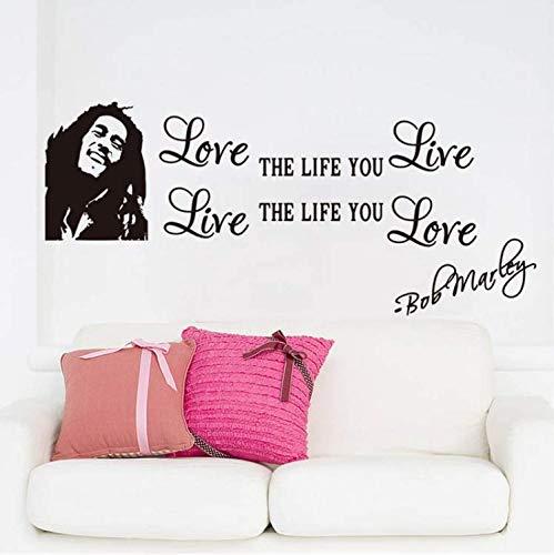 Miss Zhang's shop Adesivi Murali Inspiration Quote Famous Love Life You Live To Say Wall Stickers Home Decoration Decalcomanie da Parete per Soggiorno Family Home 30X70Cm