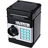 Kids Mini Electronic Money Bank Coin Cash Saving Box,black