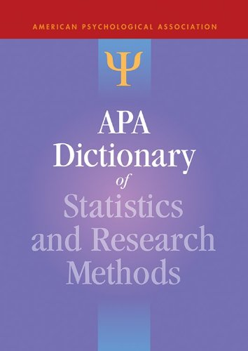 APA Dictionary of Statistics and Research Methods (APA Reference Books)