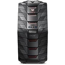 Acer Predator G6-710 Gaming Desktop-PC (Intel Core i7-7700K, 16 GB RAM, 2000 GB HDD + 256GB SSD, NVIDIA GeForce GTX 1060 (6 GB VRAM), Win 10 Home) schwarz