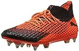 Puma Herren Future 2.1 Netfit MX SG Fußballschuhe, Schwarz Black-Shocking Orange 03, 44 EU