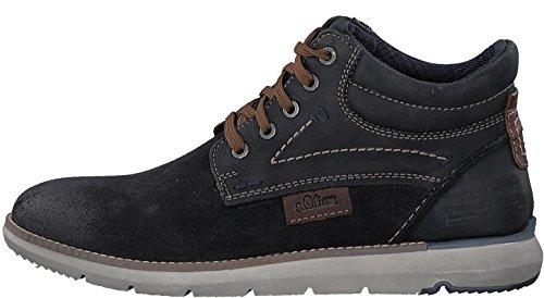 s.Oliver 5-5-15100-29 Sportlicher Herren Sneaker, high top Sneaker, knöchelhoch, Stiefel, Schnürstiefel Navy