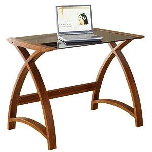 419OIbLMa3L. SS300  - Jual Helsinki Compact Walnut and Glass Desk