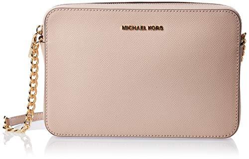 Michael kors jetset lg ew crossbody - borse a tracolla donna, rosa (soft pink), 2x10x23 cm (w x h l)