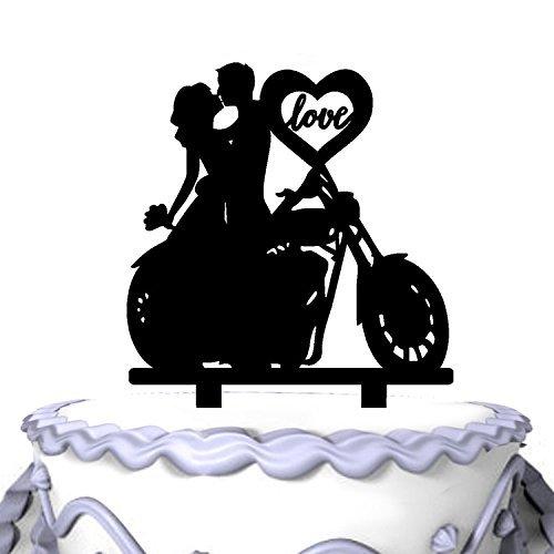Mei Jia Fei einzigartige Motorrad-Paar-Monogramm-Hochzeitstorte Topper-Soiree Sammlung (Einzigartige Hochzeitstorte Topper)