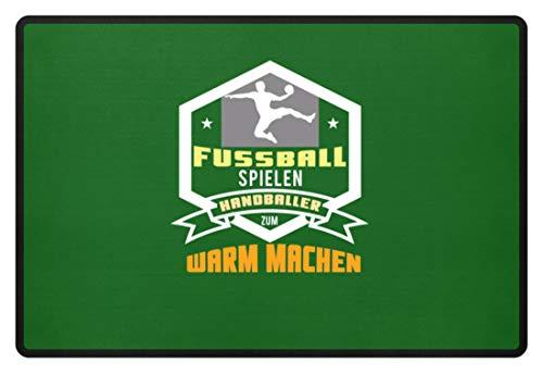 Schuhboutique Doris Finke UG (haftungsbeschränkt) Fußball spielen Handballer zum warm mach - Fußmatte -60x40cm-Kelly Green