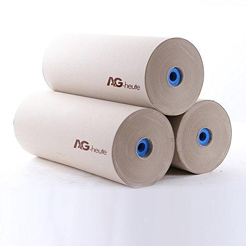 Preisvergleich Produktbild 3 x 10kg Packpapier Schrenzpapier 80gr/qm 250m x 50cm Kern+Spunde (Euro 1.10 / kg)