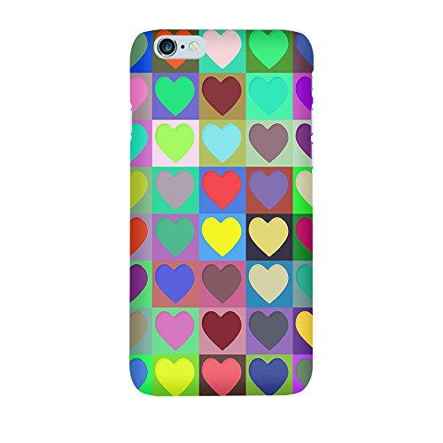 """artboxONE Handyhülle Apple iPhone 6s, weiß Sideflip-Case Handyhülle """"Love is in the air Case"""" - Abstrakt - Smartphone Sideflip Case mit Kunstdruck von NewOpArt Premium Case"""