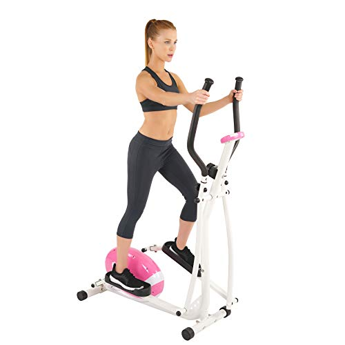 Sunny Health & Fitness Pink Magnetic Elliptical Cross Trainer Elliptical Machine w/ LCD Monitor - P8300