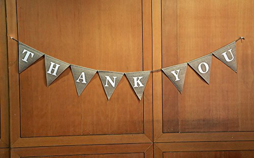 Thank You Jute-hologrammbanner Hochzeit Jute-hologrammbanner geben dank Jute-hologrammbanner Opulente durch dass-hologrammbanner Custom Home décor-rustic dankbar bunting-thank Sie Party décor-pennant Flagge Girlande