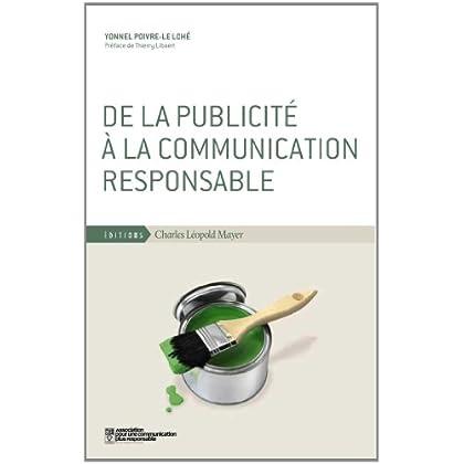 De la Publicité a la Communication Responsable