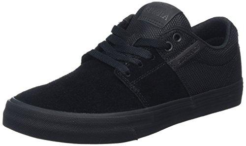 Supra Unisex-Erwachsene Stacks Ii Vulc Low-Top Schwarz (BLACK / BLACK - BLACK BBB)