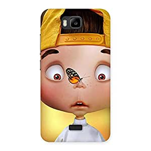 Gorgeous Confused Funny Boy Back Case Cover for Honor Bee