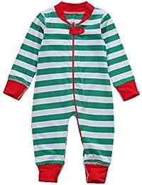 Mxssi Newborn Toddler Baby Girl Clothes Navidad Romper Outfit Navidad recién Nacido Baby Boy Baby Rompers