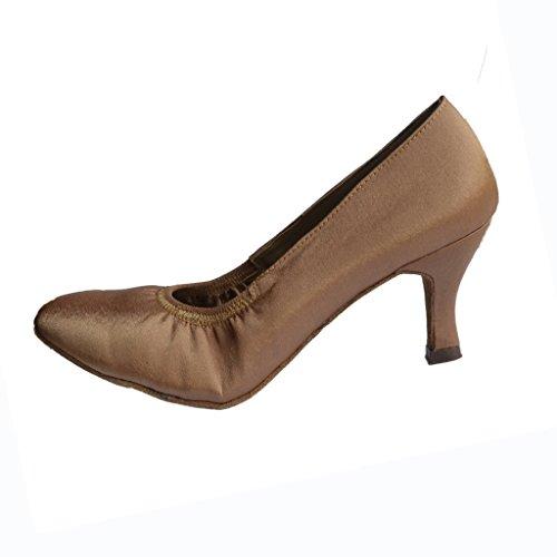 Jig Foo Chaussures de Pompes Dance pour Femme - dark tan