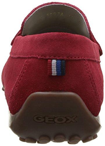 Geox U Snake Moc A Herren Slipper Rot - Rouge (Dk Red)