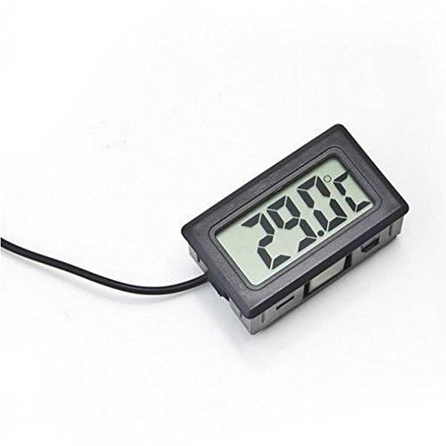 Demarkt Digital LCD Thermometer Temperatur Tester für Fisch Aquarium Kühlschrank in Schwarz - 3