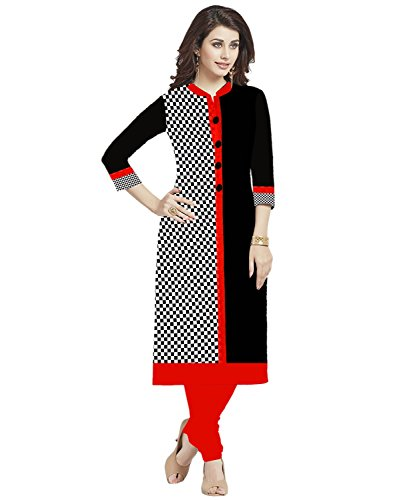 Platinum Women'S Cotton Kurti Black Checks New Collection Kurti For Girl And...