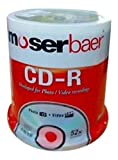 Moserbaer CD-R 80 700MB 52X Compact Disk (CA1BX0CC4A640A) - Pack of 100