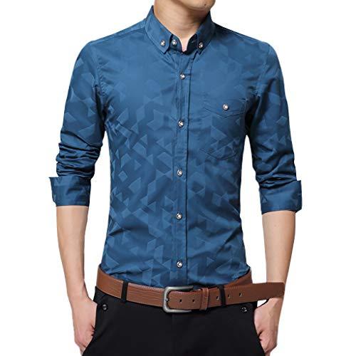 Classic Twill Rock (KUKICAT Langärmliges Hemd Classic Herren Sommer Button Shirt, Vintage Leinen Volltonfarbe Kurzarm T-Shirt Top, Casual Leinen Baumwolle Ärmel Top gestreiftes Hemd)