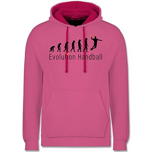 Evolution - Handball Evolution Sprungwurf - Kontrast Hoodie Rosa/Fuchsia