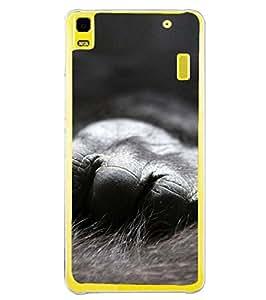 YuBingo Lenovo A7000 :: Lenovo A7000 Plus :: Lenovo K3 Note 2D Designer Phone Back Case Cover ( Hand of Chimpanzee )