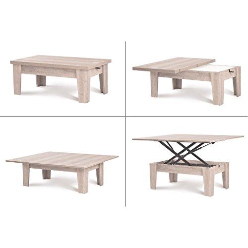 ... Couchtisch Funktionscouchtisch Tisch Ausziehbar Höhenverstellbar  Sofatisch Smart Table Esstisch ...