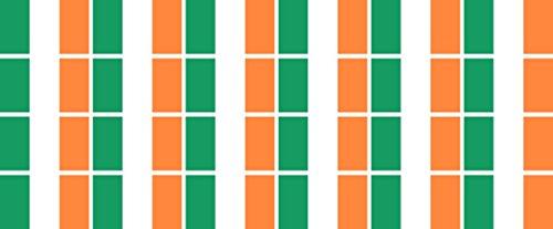Mini Aufkleber Set - Pack glatt - 33x20mm - selbstklebender Sticker - Fahne - Irland - Flagge / Banner / Standarte fürs Auto, Büro, zu Hause und die Schule - 24 Stück