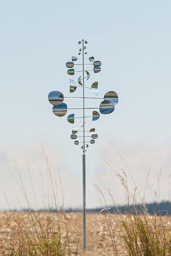 ERRO Winddancer Sailor Gigant 2698 - Gartendeko: Windspiel, tolles Geschenk für Gartenfreunde, Weihnachtgeschenk, Gartendekoration, Windrad, Windläufer, Edelstahl Deko