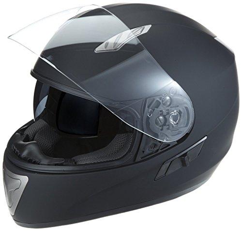 Protectwear H520-ES-XL Motorradhelm,Integralhelm mit Integrierter Sonnenblende, Größe XL, Schwarz-Matt - 3