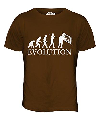CandyMix Graffiti Evolution Des Menschen Herren T Shirt Braun