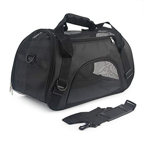 Deylaying Faltbare Hunde Tragetaschen mit Atmungsaktiven Netzfenster Transporttasche Katze Rucksack Leichte Haustier Reisetasche