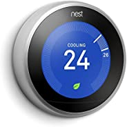 Nest 2724340000000 Learning Thermostat, 3rd Generation, Silver