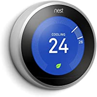 Nest Learning Thermostat, 3rd Generation, Silver