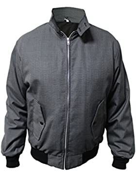 Harrington Chaqueta SKYTEXUK Classic/Retro/Mod/Scooter, 8 colores, tallas S - 5XL (2XL, Gris Oscuro)