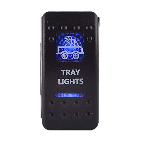 Elenxs Interruptor Impermeable LED del Coche del Barco del Carro del Eje...